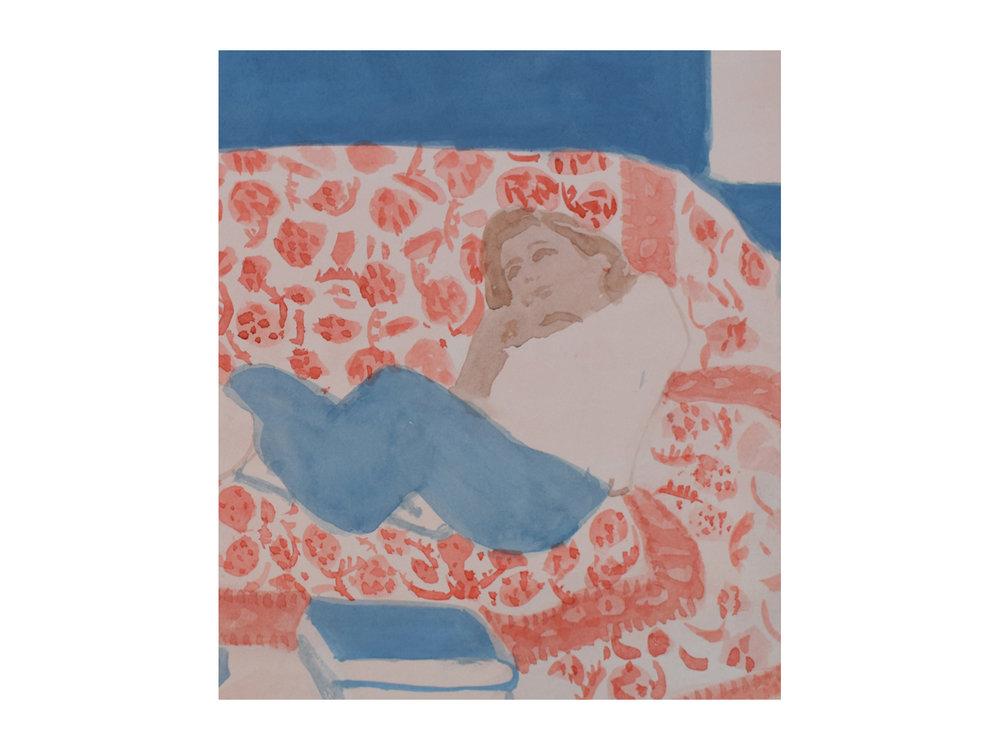 Montlucon 1995   Watercolour 19 x 23cm