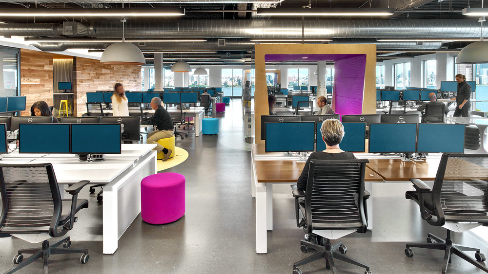 Jet.com - In 2015 e-commerce startup Jet.com moved from an incubator with rented furniture to a brand new Hoboken headquarters overlooking the Hudson River and Manhattan.