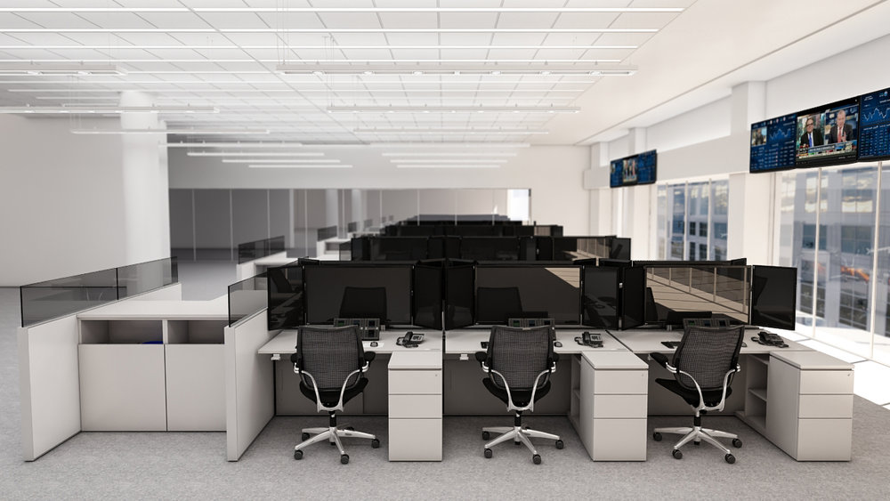 CITIGROUP - In 2015 Citigroup launched a total interior restack for their NYC headquarters. Included in the restack was a refresh of Citigroup's global trading desk furniture and technology standards, with over 3000 new trading desks.