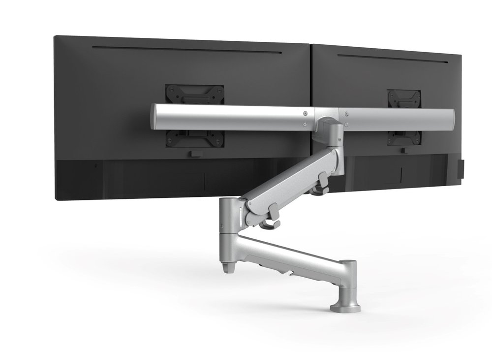 Monitor Arms - Ag Arm is a sophisticated and stylish display mounting system for LCD monitors weighing up to 40lbs.  From one to eight monitor arrangements, Ag Arm provides virtually endless display configurations.