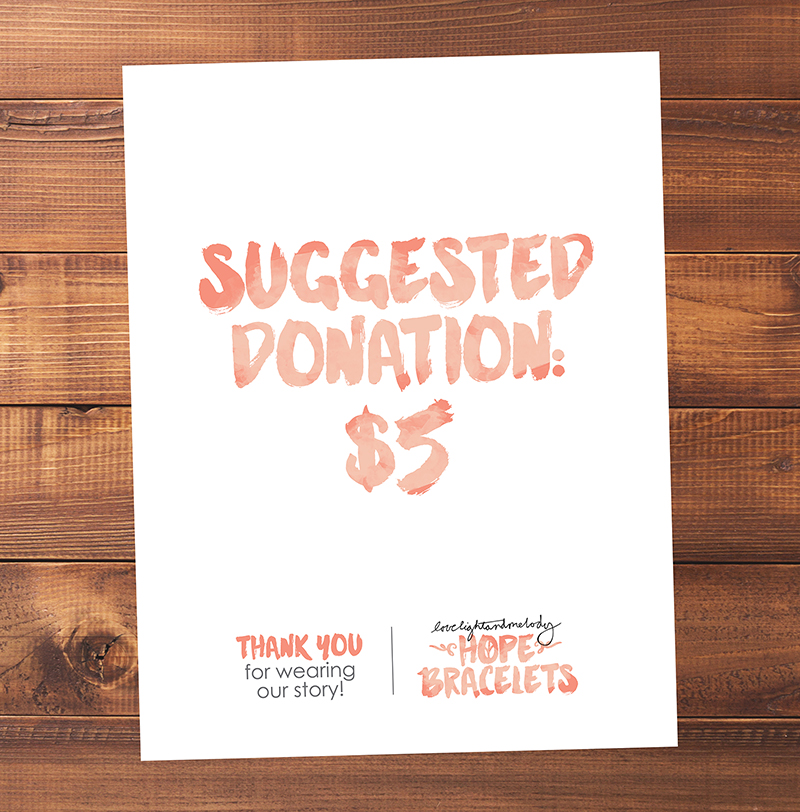 LL+M SUGGESTED DONATION POSTER - 8.5 x 11 PRINTABLE POSTER