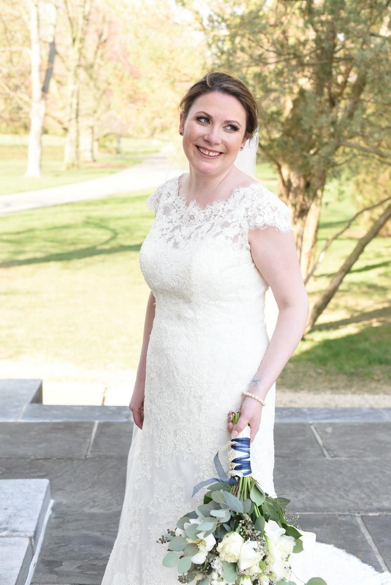 Delaware Bride at Nemours Gardens