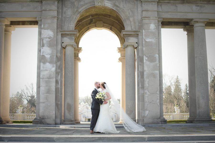 Bride and Groom at Nemours Estate