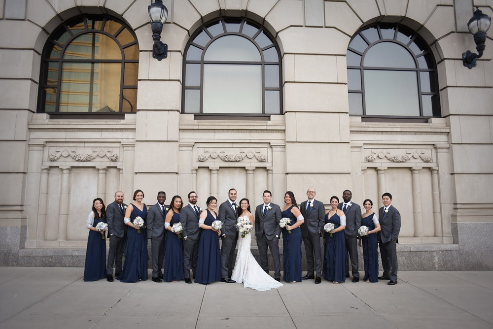 bridal party hotel dupont wedding
