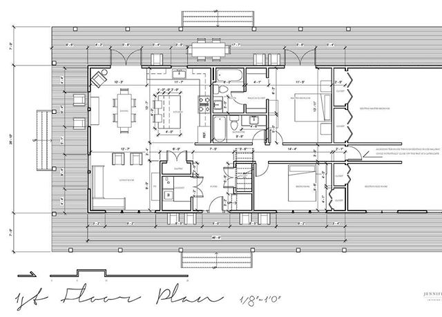 Design plans for a HUGE farmhouse addition. 🏠 Design by @jenhalbesmadesign