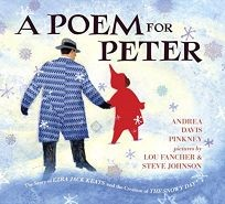 A Poem for Peter  - Pinkney, Andrea978-0-425-28768-2  A biographical tribute to Ezra Jack Keats.