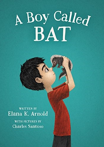 A Boy Called Bat  - Arnold, Elana978-0062445827  Bat stands for Bixby Alexander Ham. When Bat's mom who is a Veterinarian brings home a skunk kit, Bat tries to convince her to keep it permanently.