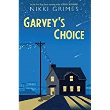 Garvey's Choice - Nikki GrimeThis is a middle grade novel written in verse that takes after the Japanese Tanka form. Garvey is a boy who is teased at school for being overweight and is constantly pressured by his father to be more athletic like his older sister, Angie. He has a best friend, Joe, a new friend, Manny, and a talent for singing that lands him a solo in the school's chorus concert. Through Garvey's singing talent, he finds a way to connect with his father and combat the bullies' rude remarks with a newfound strength and purpose.
