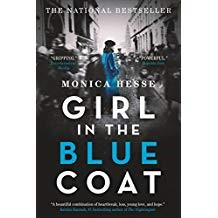 Girl in the Blue Coat   - Monica Hesse978-0-316-26063-3Hanneke is growing up in war torn Netherlands during WWII. She is smart, devious, and uses her wits to trade in an underground economy to help her family survive. She knows the lonely and needy in the neighborhood. She knows how to maneuver and stay safe under German soldiers' watchful eyes. She grasps whatever opportunities may allow for a smile or a treat. In spite of the danger, she falls in love. She has friends in the resistance group and they all walk a treacherous path. The mystery that unfolds is tied to a blue coat. Hanneke learns how important it is to live in the moment, because the future is tenuous, but knows that human kindness and loyalty must never be lost.