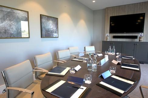 Modern, luxurious boardroom meeting room