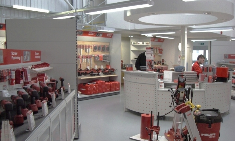 Hilti trade counter and showroom full fit out