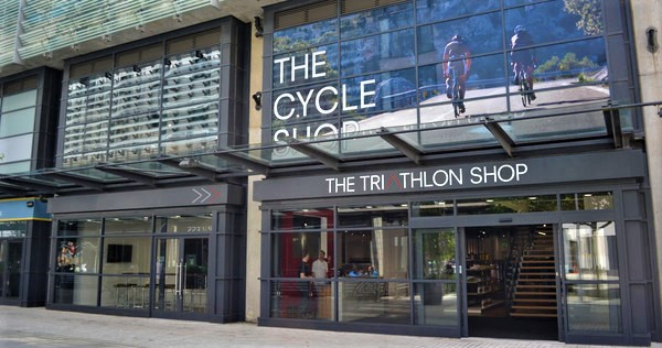 The Triathlon shopfront and canopy