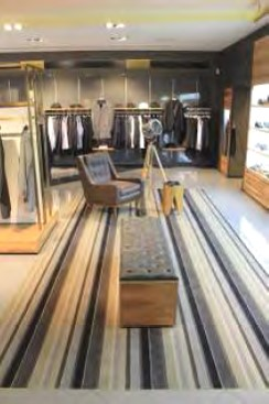 Modern menswear retail space