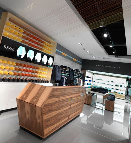 Corporate branding throughout retail space