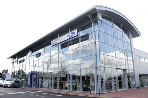Car showroom to meet corporate branding guidelines