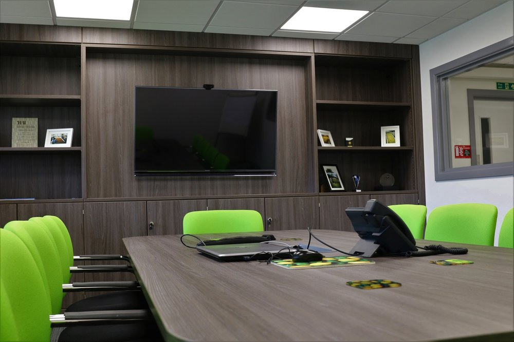 Modern boardroom for global company
