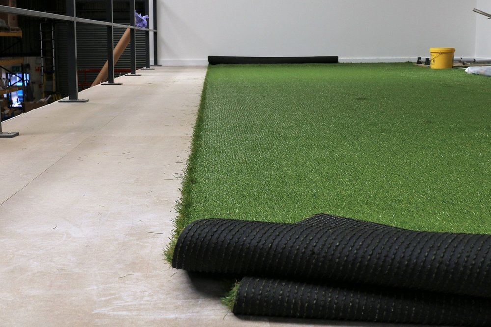 indoor-outdoor spaces with astroturf