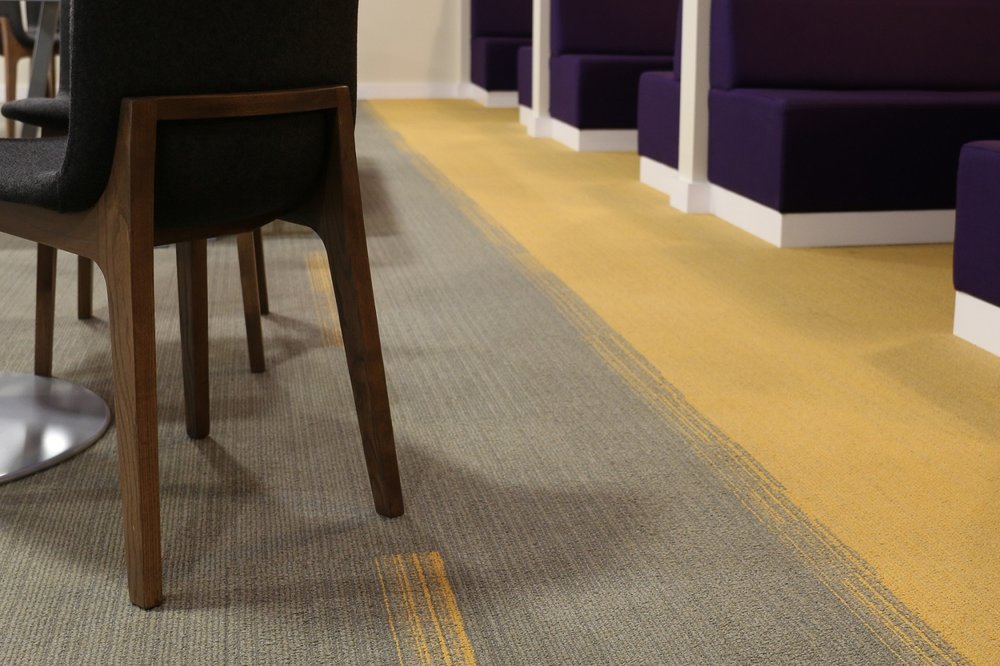 Flooring to match corporate branding colours