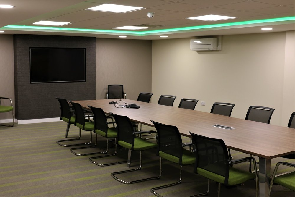 Modern, formal boardroom