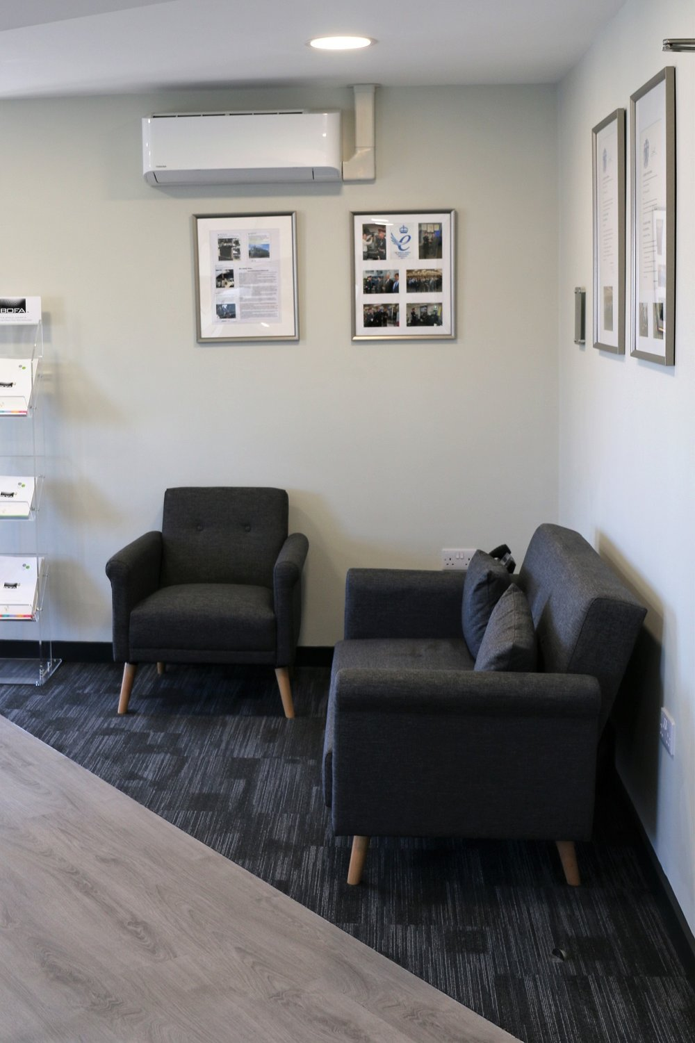 Provision of furniture for reception area