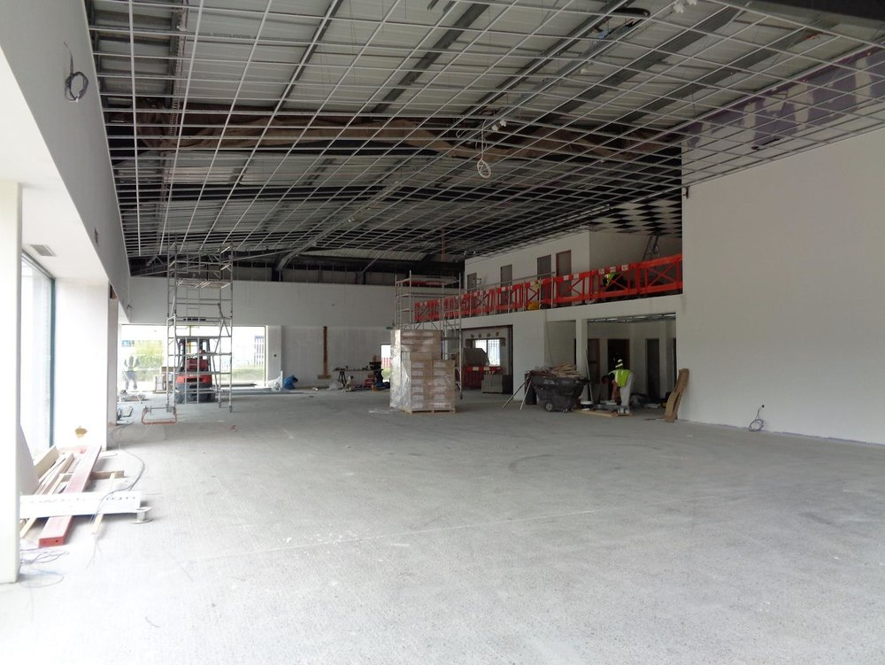 New suspended ceiling across showroom