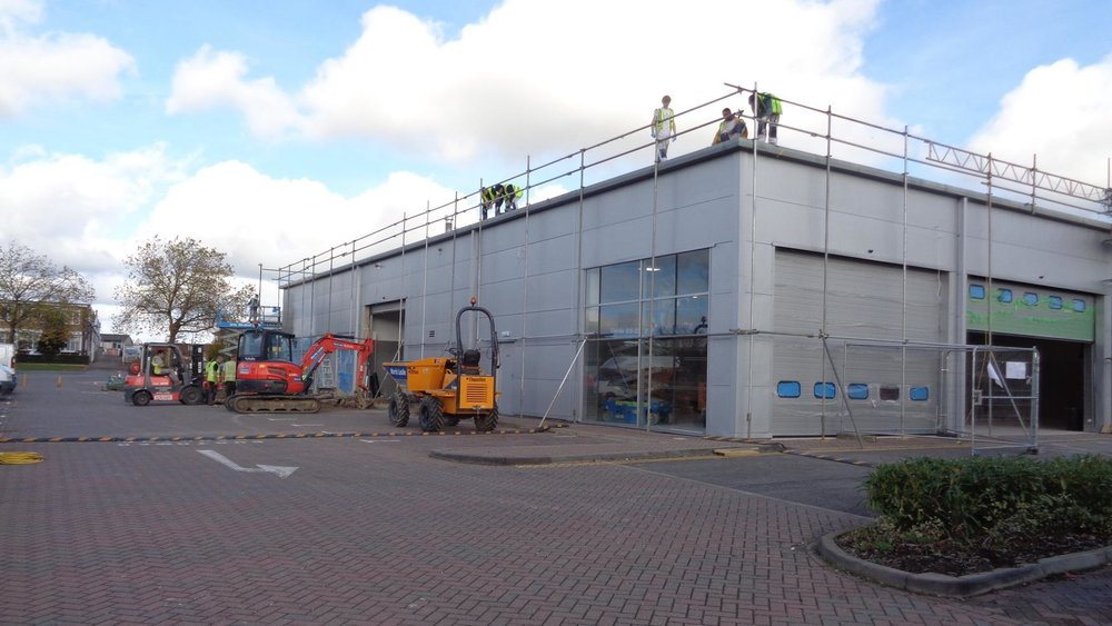 Full external dealership refurbishment