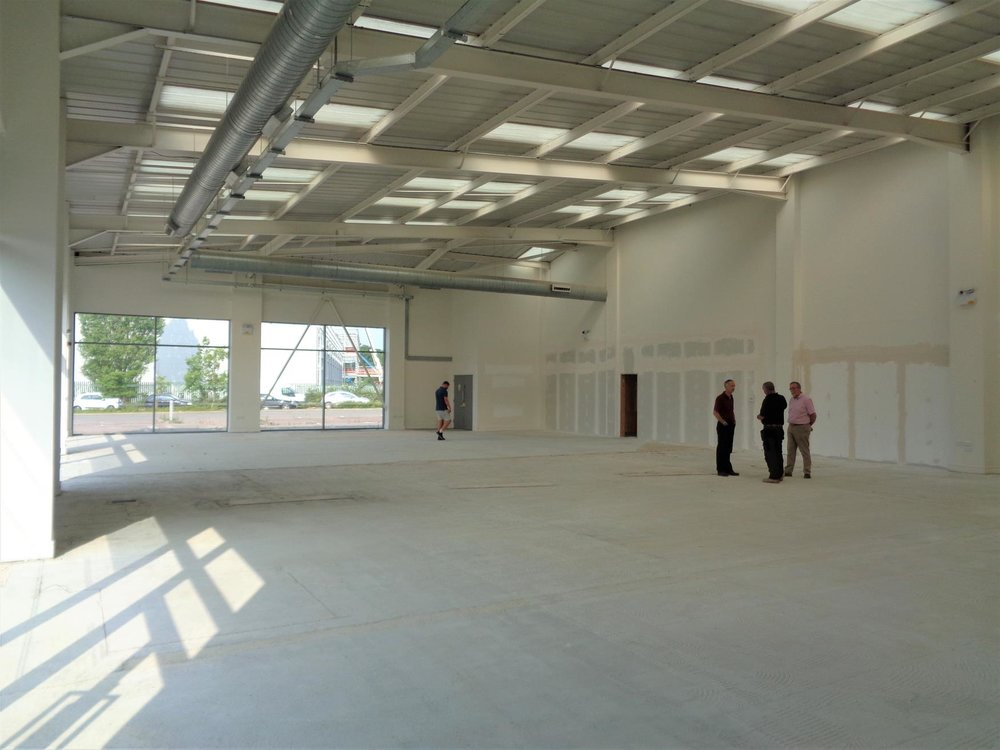 Main car showroom during refurbishment works