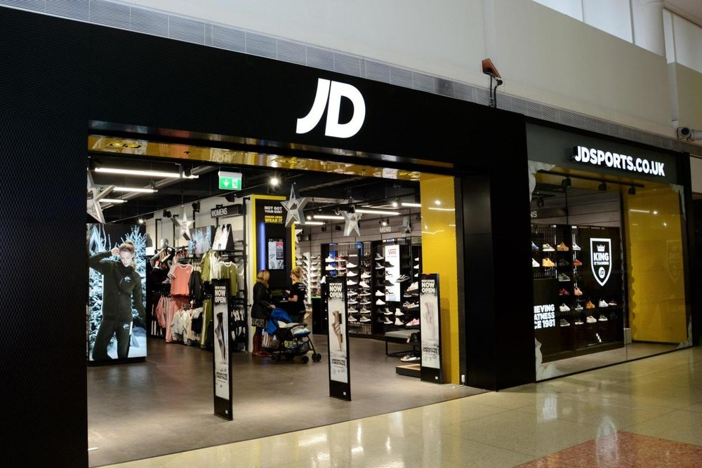 Clear JD branding retail shopfront