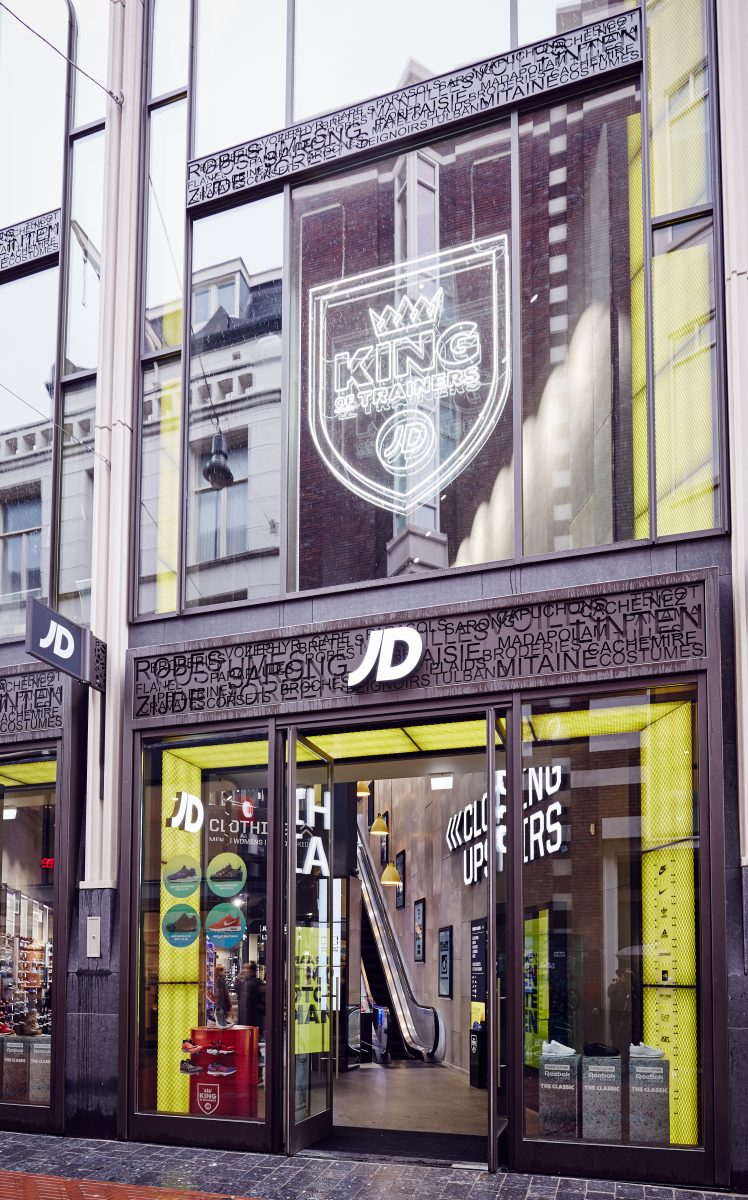 Custom shopfront JD Sports