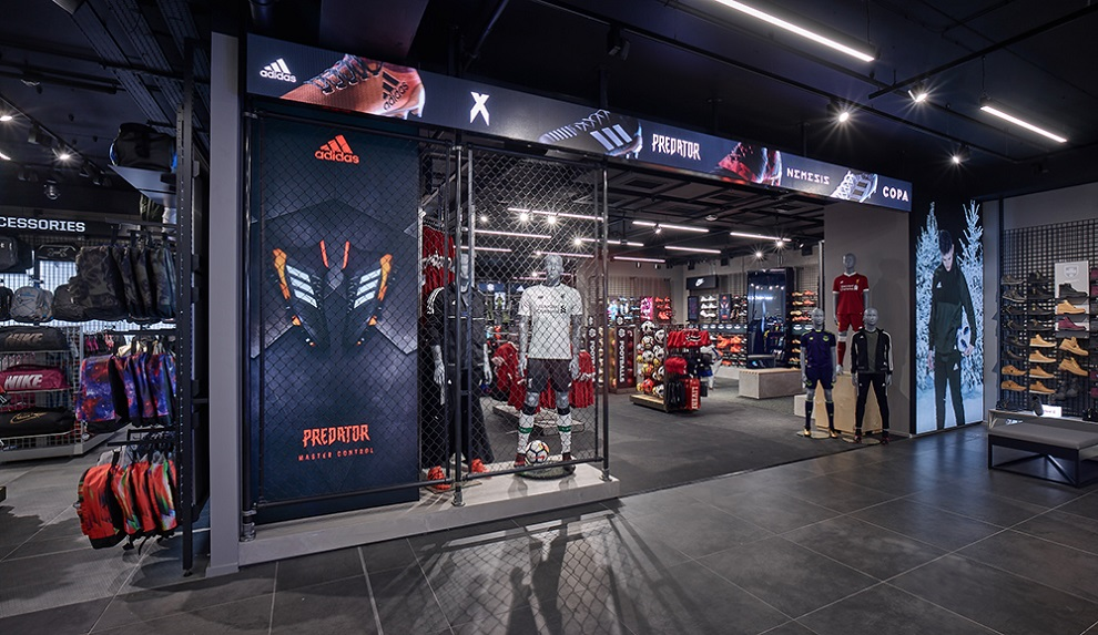 Fit out of JD Sports Football Zone