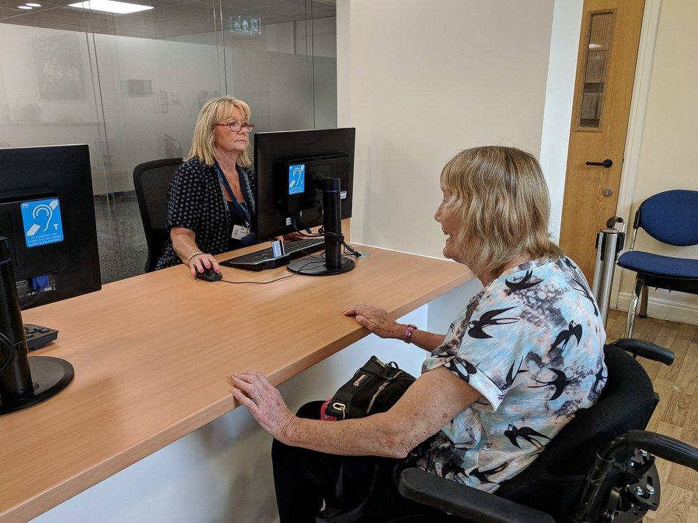 Reception refurbishment for disabled access
