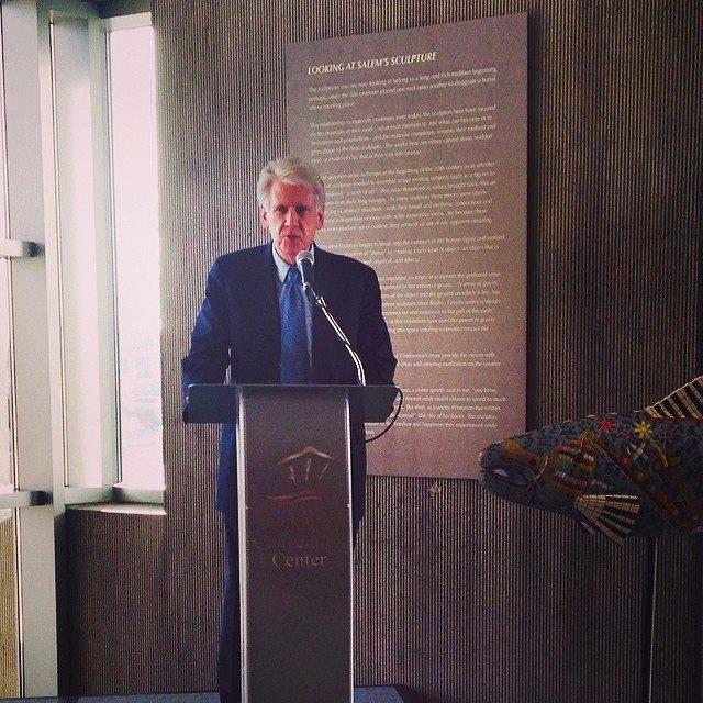 Cien Anos John Olbrantz speaks at Fields dedication 2014.jpg