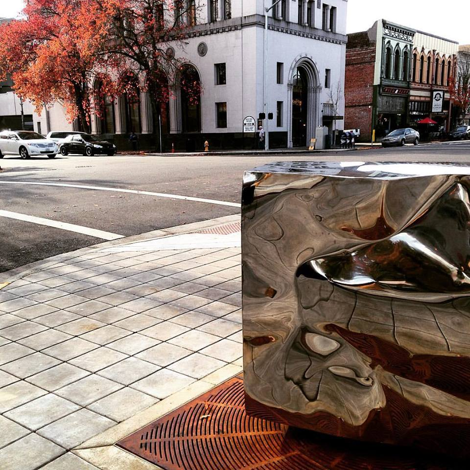 Bruce West Cube installed on Liberty State Sts Photo DArcy.jpg