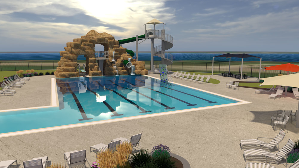 Conceptual Design and Renderings Provided by Waters Edge Aquatic Design