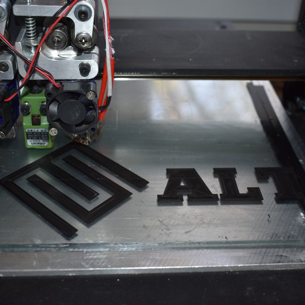 ALT logo printed in-house