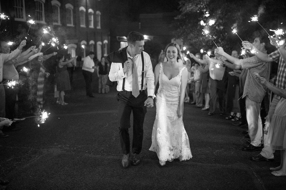 Sparkler Exit Wedding Photos Salem Oregon
