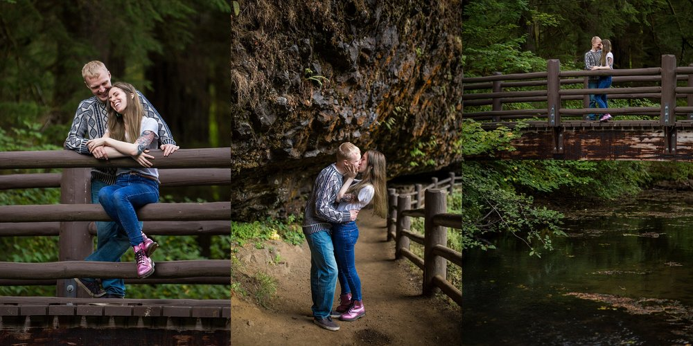 Silver Falls State Park Engagement Photographer