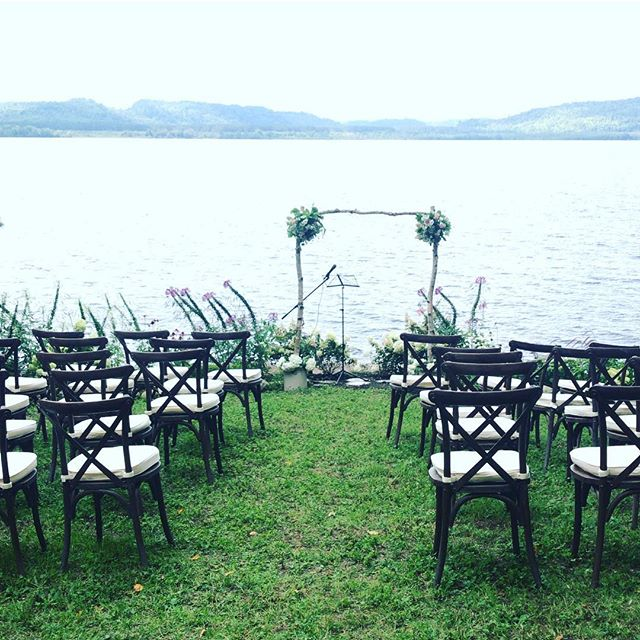 Not a bad isle to walk down. Not a bad view. We love remote cottage weddings:) #ottawawedding #ottawabusiness #ottawaevents #ottcity