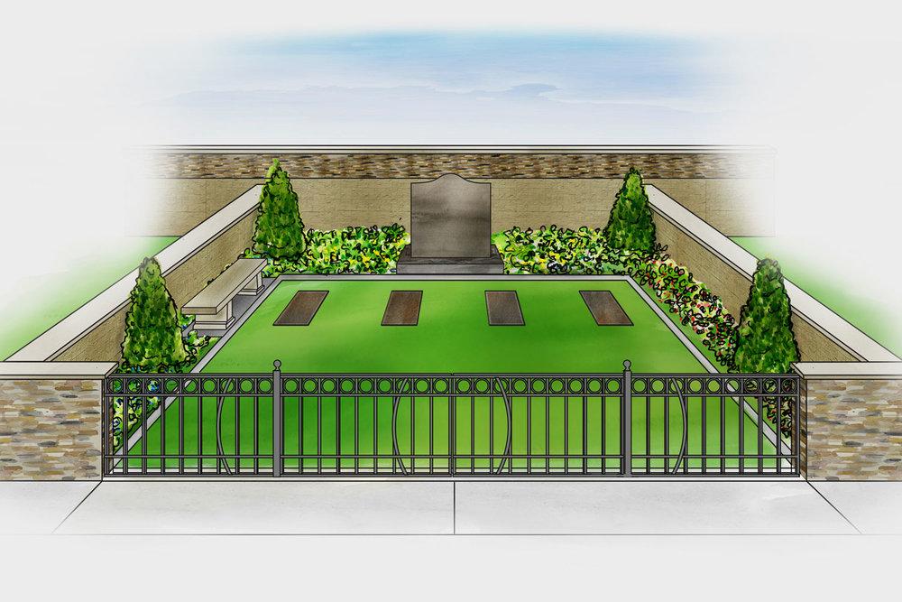 Private Family Estate Concept Illustration