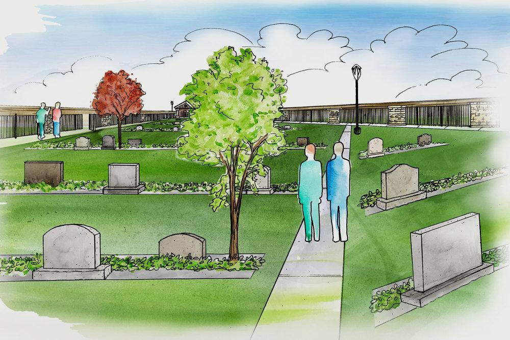 New Upright Garden Concept Illustration