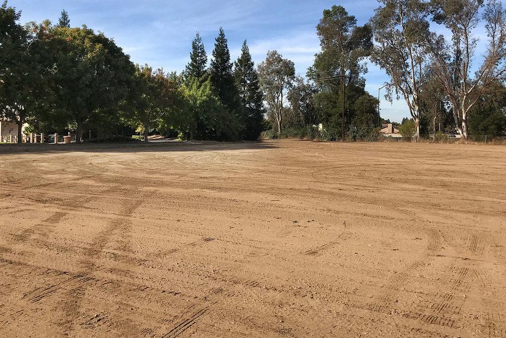 Pre-Construction Photo of New Cherokee Memorial Upright Garden