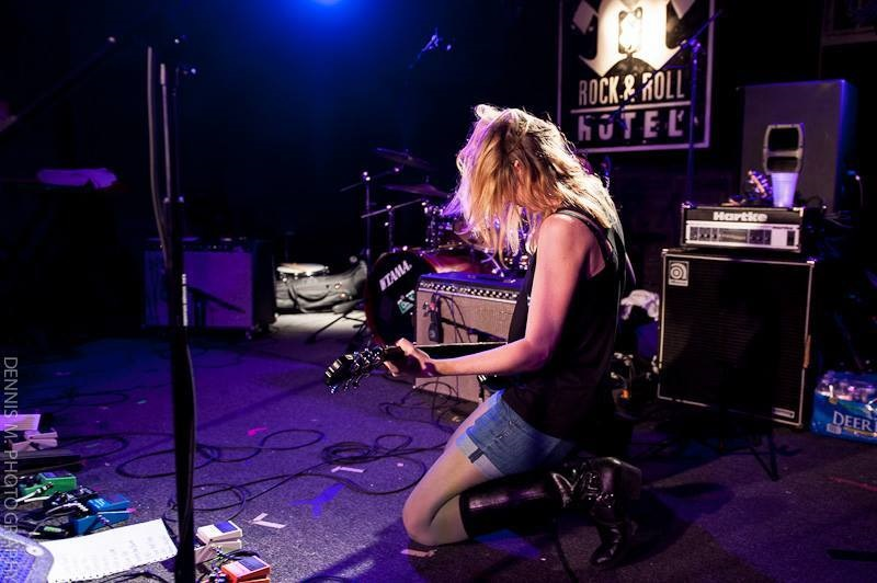 Maryjo Mattea rocking out live at the Rock & Roll Hotel; press photo courtesy of Dennis M Photography.