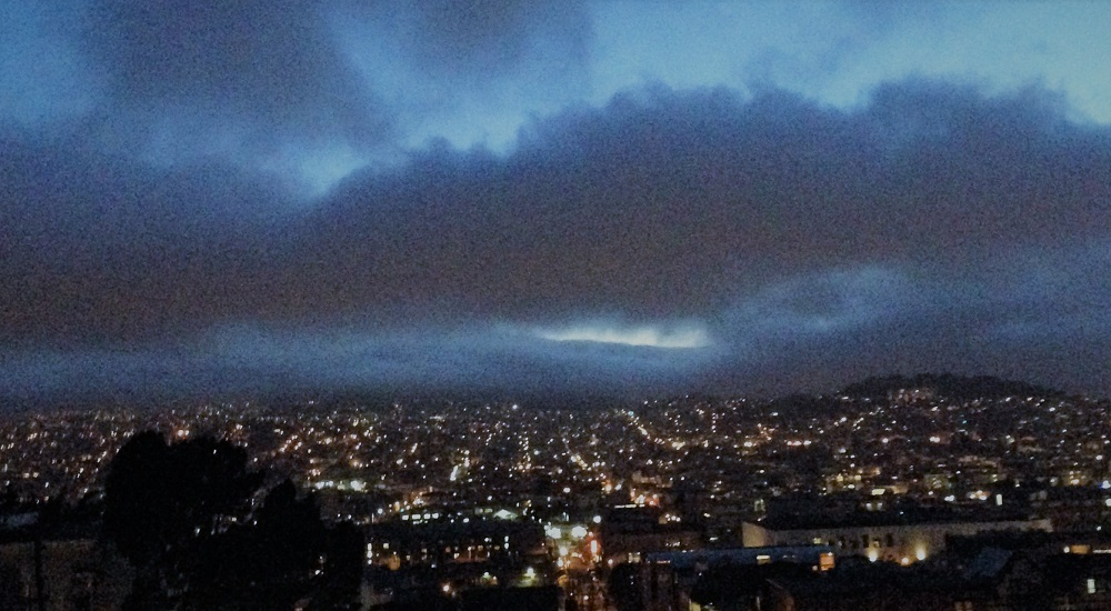 Pursuits of arts beyond the deluge of clouds and city lights; press photo courtesy of Week in Pop.