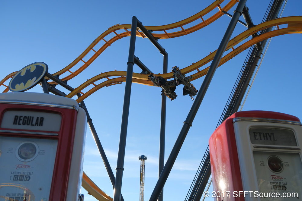 Riders flip multiple times throughout the ride.