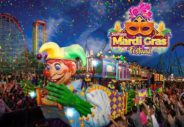 Mardi Gras Festival at Six Flags Fiesta Texas