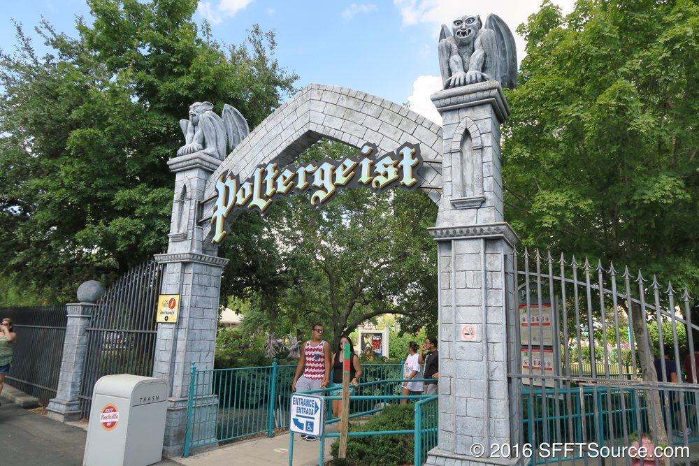 The main entrance to Poltergeist.