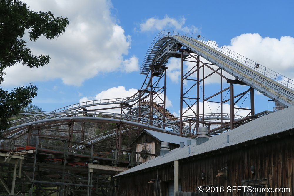 A look at the first lift hill.