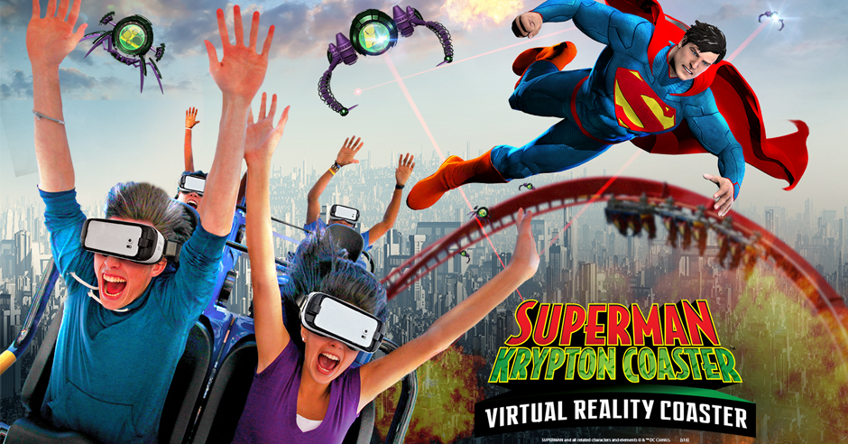Virtual Reality - In the summer of 2016, Superman Krypton Coaster took on the brand new virtual reality technology that is currently found at a number of Six Flags parks.Riders put on virtual reality headsets and are thrust into a roller coaster ride that features Superman and other DC superheroes.The attraction ran through the summer of 2016 and has not returned since.