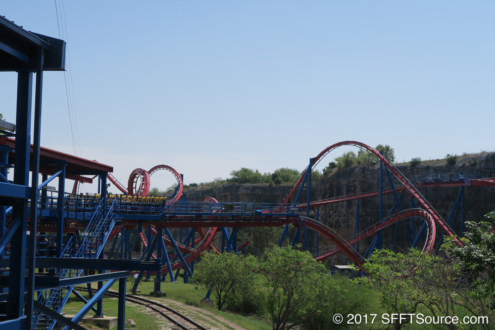 A look at the ride layout from the exit ramp.