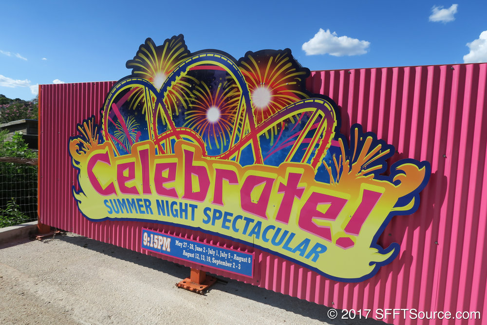 Celebrate! is a fireworks show that began in 2017.